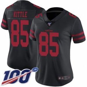 Women 49ers George Kittle 100th Season Jersey